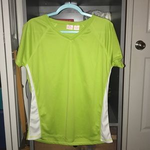 women's lime green swimming rashguard sz XL